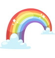 Rainbow icon isolated vector image vector image