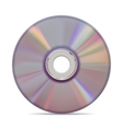 Realistic compact disc on white background vector image vector image