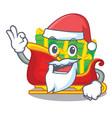 santa christmas santa sleigh isolated on mascot vector image
