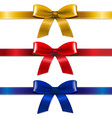 satin bows set vector image vector image