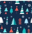 seamless winter pattern christmas trees vector image vector image