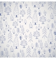 Simple Christmas tree icon seamless pattern vector image vector image