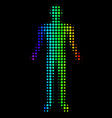 spectral colored pixel human icon vector image vector image