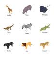 stockbreeding icons set isometric style vector image vector image