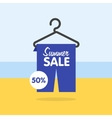 Summer seasonal sale discounts and sales vector image vector image