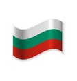 the flag of bulgaria vector image