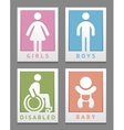 Toilet stickers vector image