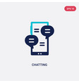 two color chatting icon from communication vector image vector image