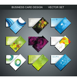 Various Business Card set vector image vector image