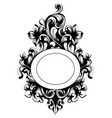vintage baroque mirror frame french luxury vector image