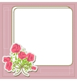 Vintage frame with flowers retro background vector image vector image