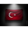 waving flag turkey on a dark wall vector image