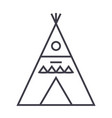wigwam line icon sign vector image vector image
