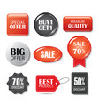 set of sale buttons and badges product vector image