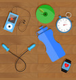 training in gym concept vector image