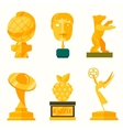 Big Golden Collection Isolated On White vector image