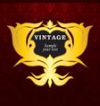 Vintage gold labels vector image