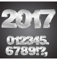 3d numbers vector image vector image