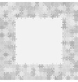 400 Grey Puzzles Frame vector image vector image