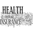 a new idea to the health insurance crisis in vector image vector image