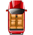 A topview of a red car vector image vector image