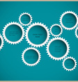 Abstract gear wheels vector image vector image