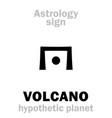 astrology circumsolar planet volcano vulcan vector image vector image