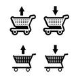 basket shop black vector image vector image