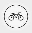 bicycle universal icon editable thin vector image vector image