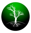 Black and white drawing of deciduous tree Black vector image vector image