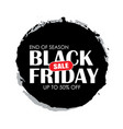black friday sale circle banner with white text vector image vector image