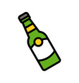 bottle feast of saint patrick filled icon vector image vector image