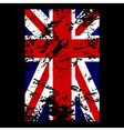 British flag t shirt typography vector image vector image