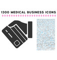 card payment hand icon with 1300 medical business vector image vector image