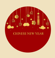 Chinese new year background with Chinese New Year vector image vector image