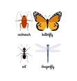 Colorful insects set vector image vector image