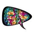 colorful rounded triangular speech with abstract vector image