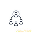 delegation icon linear vector image