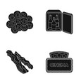 drug mini-bar and other web icon in black style vector image vector image