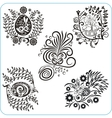 Easter Design - set floral symbols vector image
