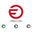 f letter logo business template vector image vector image