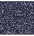 food sketch vector image vector image