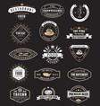 food vintage design elements logos badges vector image vector image