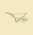 Garden Wheelbarrow Icon vector image