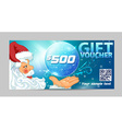 Gift voucher Santa Claus vector image