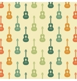 Guitar background Retro and Music design vector image vector image