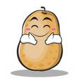 happy potato character cartoon style vector image vector image