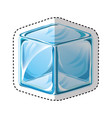 ice cube isolated icon vector image