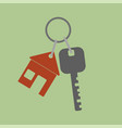 icon key icon from the house flat design style vector image vector image