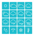 icon pack weather isolated background vector image vector image